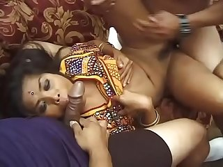 Double Anal crazy day for a nice Indian whore.
